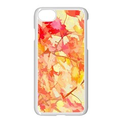 Monotype Art Pattern Leaves Colored Autumn Iphone 7 Seamless Case (white) by Amaryn4rt