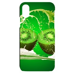 Kiwi Fruit Vitamins Healthy Cut Iphone X/xs Black Uv Print Case
