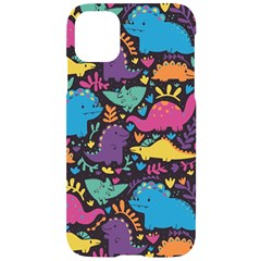 Dino Cute Iphone 11 Pro Black Uv Print Case by Mjdaluz