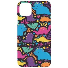 Dino Cute Iphone 11 Pro Max Black Uv Print Case by Mjdaluz