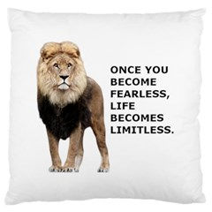 Lion Limitless Standard Flano Cushion Case (one Side) by myuique