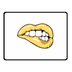 Golden Lips Double Sided Fleece Blanket (small)  by goljakoff