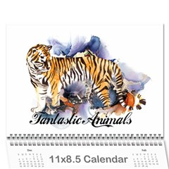 Fantastic Animals Wall Calendar 11 X 8 5 (12-months)