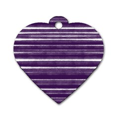 Bandes Peinture Violet  Dog Tag Heart (one Side) by kcreatif