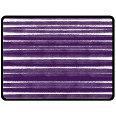 Bandes Peinture Violet  Fleece Blanket (large)  by kcreatif