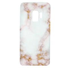 Pink And White Marble Texture With Gold Intrusions Pale Rose Background Samsung Galaxy S9 Tpu Uv Case