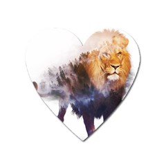 Lion Heart Magnet by goljakoff
