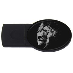 African Lion Usb Flash Drive Oval (2 Gb) by goljakoff