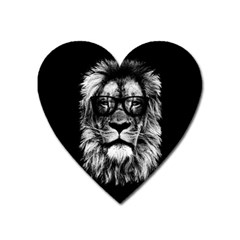 Hipster Lion Heart Magnet by goljakoff