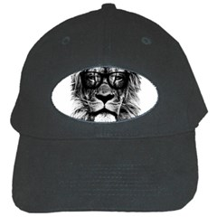 Hipster Lion Black Cap by goljakoff
