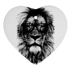 Hipster Lion Ornament (heart) by goljakoff