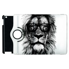 Hipster Lion Apple Ipad 3/4 Flip 360 Case by goljakoff