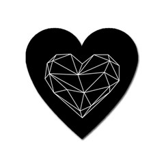 Low Poly Heart Heart Magnet by goljakoff