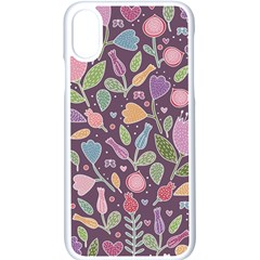 Floral Pattern Iphone Xs Seamless Case (white) by Valentinaart