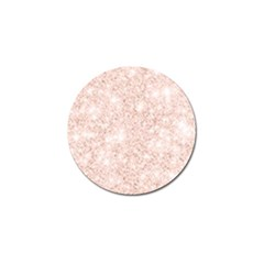 Rose Gold Pink Glitters Metallic Finish Party Texture Imitation Pattern Golf Ball Marker (4 Pack) by genx