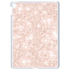 Rose Gold Pink Glitters Metallic Finish Party Texture Imitation Pattern Apple Ipad Pro 9 7   White Seamless Case by genx