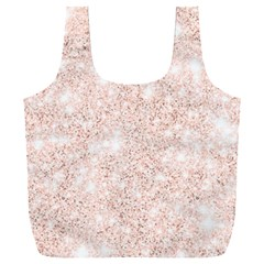 Rose Gold Pink Glitters Metallic Finish Party Texture Imitation Pattern Full Print Recycle Bag (xxl) by genx