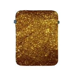 Gold Glitters Metallic Finish Party Texture Background Faux Shine Pattern Apple Ipad 2/3/4 Protective Soft Cases by genx