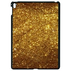 Gold Glitters Metallic Finish Party Texture Background Faux Shine Pattern Apple Ipad Pro 9 7   Black Seamless Case by genx