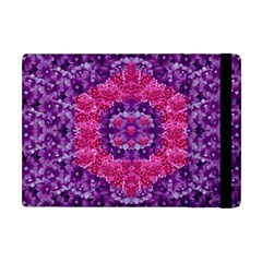 Flowers And Purple Suprise To Love And Enjoy Apple Ipad Mini Flip Case by pepitasart