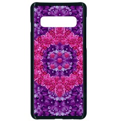Flowers And Purple Suprise To Love And Enjoy Samsung Galaxy S10 Seamless Case(black)