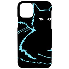 Black Cat & Halloween Skull Iphone 11 Black Uv Print Case
