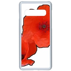 Coquelicots Fleurs Samsung Galaxy S10 Seamless Case(white)