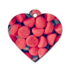 Fraise Bonbons Dog Tag Heart (two Sides) by kcreatif