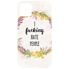 I Fucking Hate People Iphone 11 Pro Black Uv Print Case