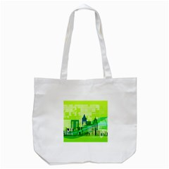 Architecture Skyline Tote Bag (white) by Wegoenart
