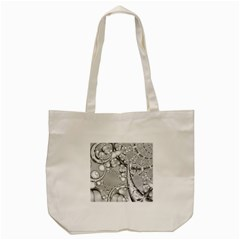Entwine Fractals Rings Thorns Blow Tote Bag (cream)