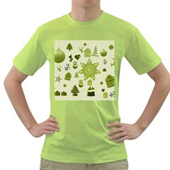 Christmas Symbols Decoration Green T-shirt by Wegoenart