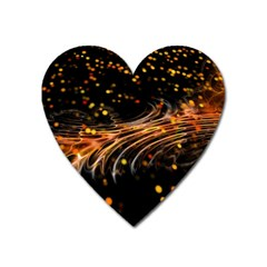 Abstract Background Particles Wave Heart Magnet by Wegoenart