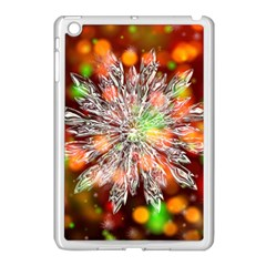 Ice Crystal Crystal Snowflake Bokeh Apple Ipad Mini Case (white) by Wegoenart