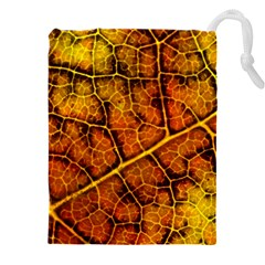 Autumn Leaves Forest Fall Color Drawstring Pouch (5xl)