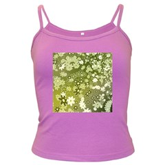 Flowers Abstract Background Dark Spaghetti Tank by Wegoenart