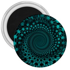 Spiral Abstract Pattern Background 3  Magnets by Wegoenart