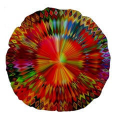 Kaleidoscope Mandala Color Large 18  Premium Round Cushions by Wegoenart