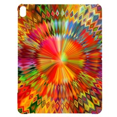 Kaleidoscope Mandala Color Apple Ipad Pro 12 9   Black Uv Print Case by Wegoenart