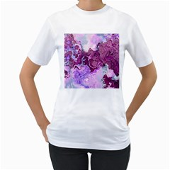 Abstract Texture Background Women s T-shirt (white) (two Sided) by Wegoenart