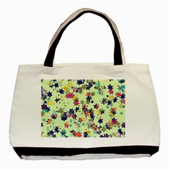 Flowers Ornament Decoration Basic Tote Bag by Wegoenart