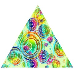 Wallpaper Pattern Colorful Color Wooden Puzzle Triangle