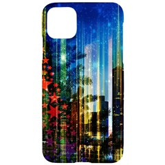 Skyline Frankfurt Christmas Star Iphone 11 Pro Max Black Uv Print Case