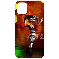Cute Little Harlequin Iphone 11 Black Uv Print Case by FantasyWorld7