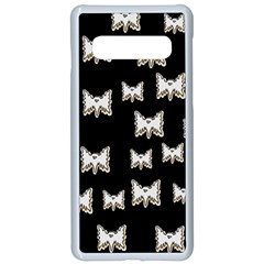 Bats In The Night Ornate Samsung Galaxy S10 Seamless Case(white)