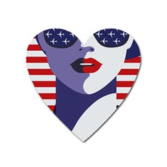 All American Girl Heart Magnet by goljakoff