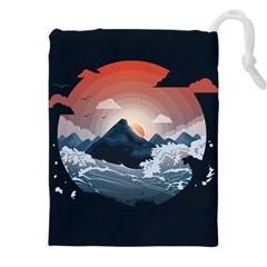 Sunset Over The Mountain Drawstring Pouch (5xl)