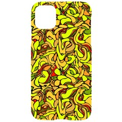 Yellow Abstract Drops Iphone 11 Black Uv Print Case