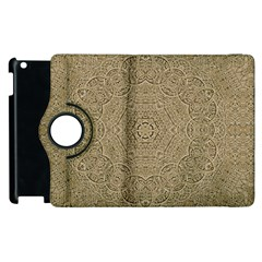 Wood In The Forest And Stars Mandala Apple Ipad 2 Flip 360 Case by pepitasart