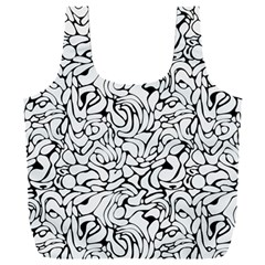 Abstract Drops Pattern Full Print Recycle Bag (xxl)